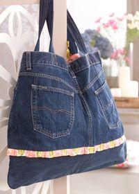 Jeans bag pattern: A Mini-Saia Jeans, Jeans Bags Free Patterns, Denim Jeans, Pur Patterns, Denim Bags, Blue Jeans, Bags Patterns, Jeans Pur, Bag Patterns
