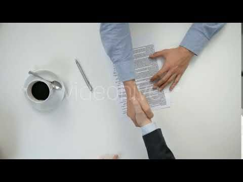 Men's Hands Signing a Document (Stock Footage)