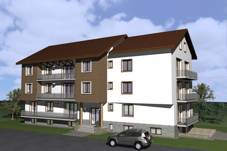 Residential apartments Timisoara. Residential building design and images.
