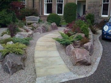 boulders with stepping stones path