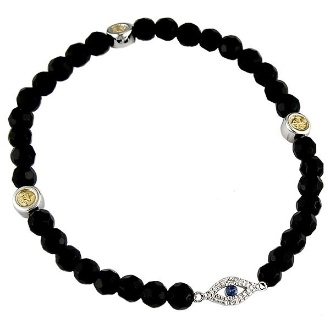 ward off evil fashion spirits with your new onyx stretchy friend. we love her stacked.: Arm Party, Stretchy Friend, Onyx Bracelets, Fashion Spirits, Evil Fashion, Edgy Arm, Onyx Stretchy, Fun Jewelry