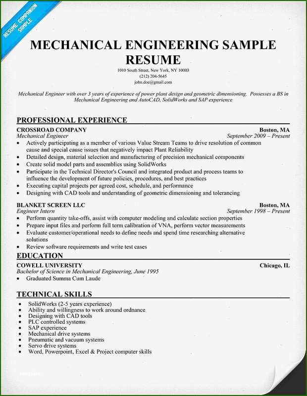 14 Fine Mechanical Engineer Resume Template Mechanical Engineer Resume Engineering Resume Engineering Resume Templates
