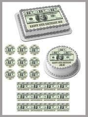 100 dollar bills B – Edible Cake Topper, Cupcake T…