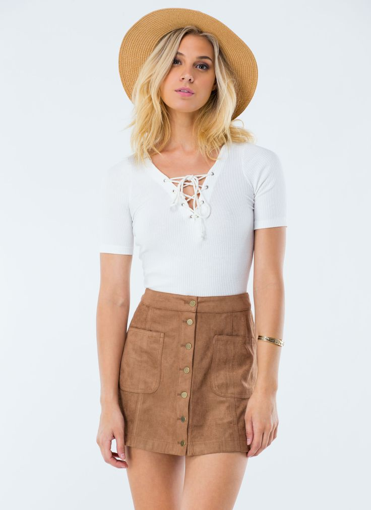70s Babe Faux Suede Mini Skirt DUSTYPINK CAMEL - GoJane.com | 2015 ...