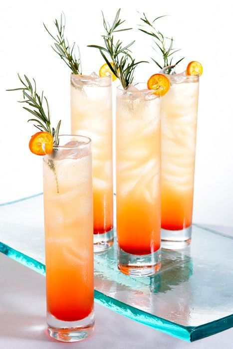 catering by Wolfgang Puck; some tasty beverage with kumquats, grenadine and rosemary?