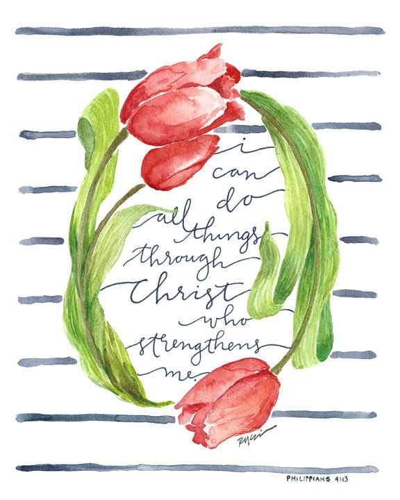 All Things Through Christ | 8x10 and 11x14 prints at GraceLaced