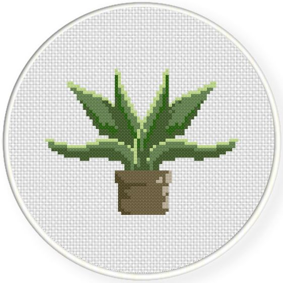 FREE Green Plant Cross Stitch Pattern