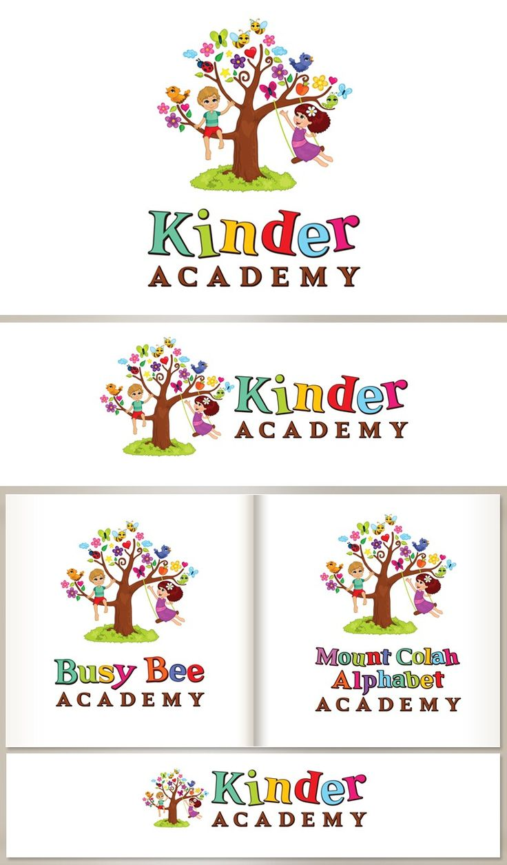 Fun and colorful Kinder Academy logo by agnes design.
