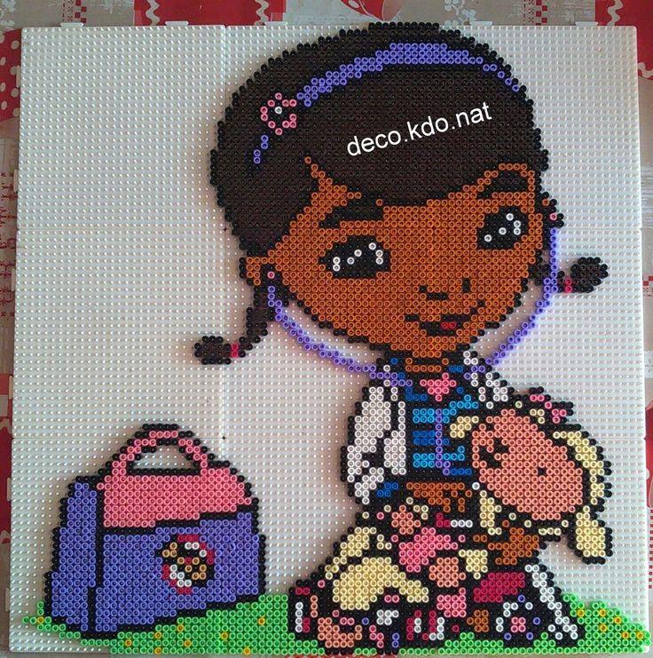 Dottie - Doc McStuffins hama perler beads by Deco.Kdo.Nat