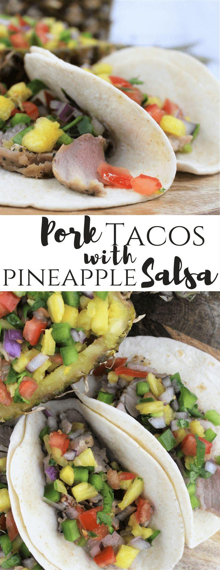 RealFlavorRealFast Pork, #ad, Tacos with Pineapple Salsa