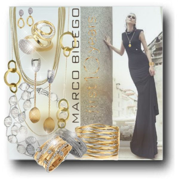 Marco Bicego Jewelry: Where Nature & Art Merge by betiboop8 on Polyvore featuring Marco Bicego, Dunn, MarcoBicego, designerjewelry and finejewelry