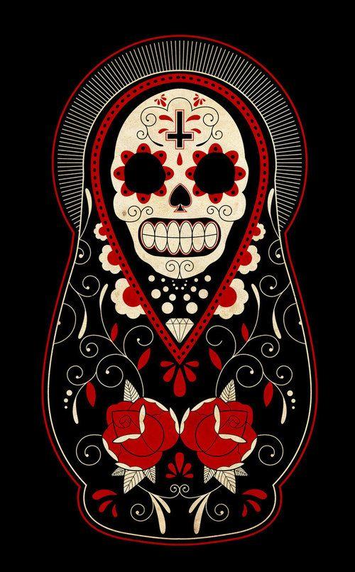 day_of_the_dead_russian_dolls_by_paulorocker-d3985wo_large.jpg 500×806 pixels