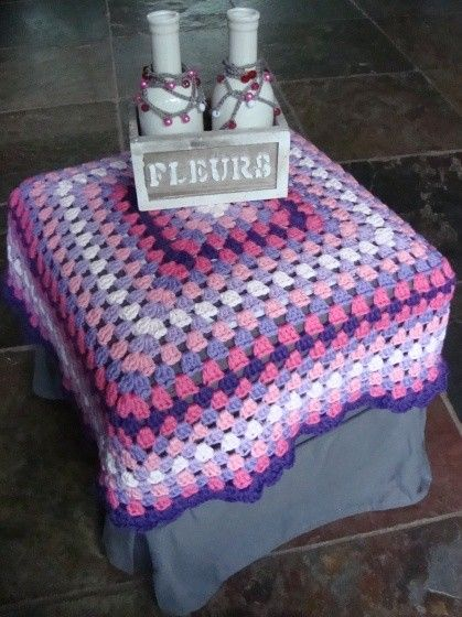 *Tutorial* Gehaakt voetenbankhoesje. Foot StoolsStool CoversCrochet ... & 78 best Crochet - Stool Covers u0026 Mandalas images on Pinterest ... islam-shia.org