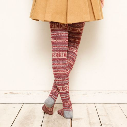 JACQUARD SNOW TIGHTS Tabio Online Socks and Tights Speciality Store