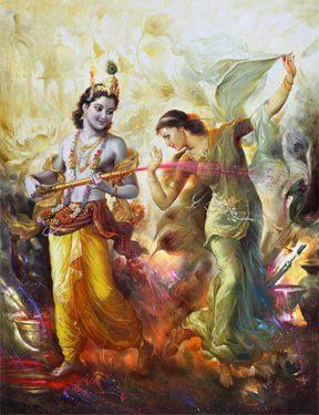 Krishna and Radha--- the two figures in my life, with massive historic and mythical proportions. Beautiful pure, radiant love. - Deepa