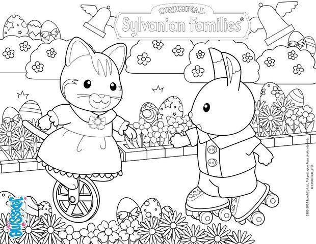 Colouring Games Online Play : 51 best calico critters coloring pages images on pinterest