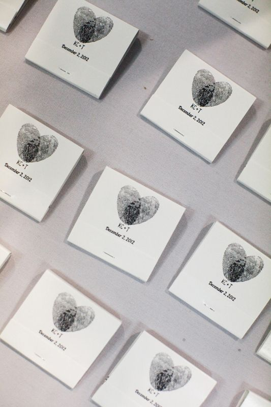 Your friends have:  Wrapped their wedding favours with cute heart-patterned paper.     We prefer:  Putting your mark (literally) on your wedding favours with your finger prints to make whimsical heart shapes.    Photo by  Alders Photography .