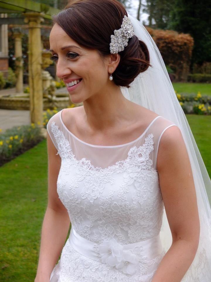 Bun Wedding Hairstyles With Veil