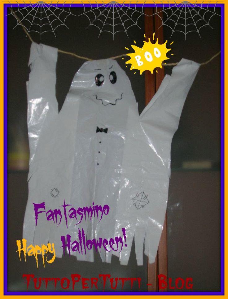 Tutto Per Tutti: FANTASMINO HAPPY HALLOWEEN!! Una idea per le decorazioni esterne per Halloween, veloce, semplice e d'effetto!