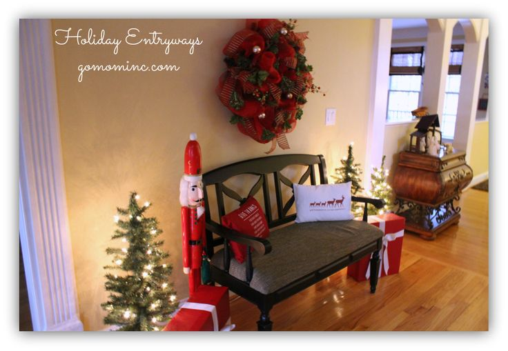 Loved creating this Holiday Entryway look in our foyer thanks to #PFDecorates !