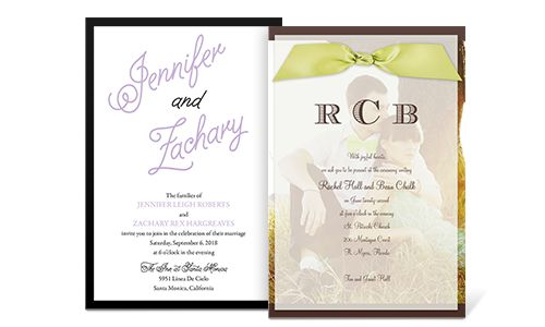 How to word your invitations based on individual circumstances.