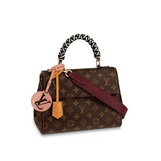 2019 的 Louis Vuitton Monogram Canvas braided Cluny BB M43982 Crème ... 928ca38657bae