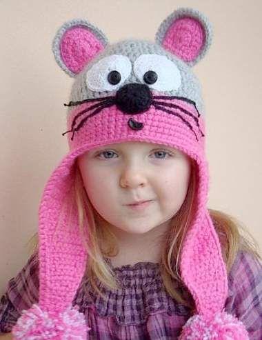 детские шапки крючком с ушками схемы