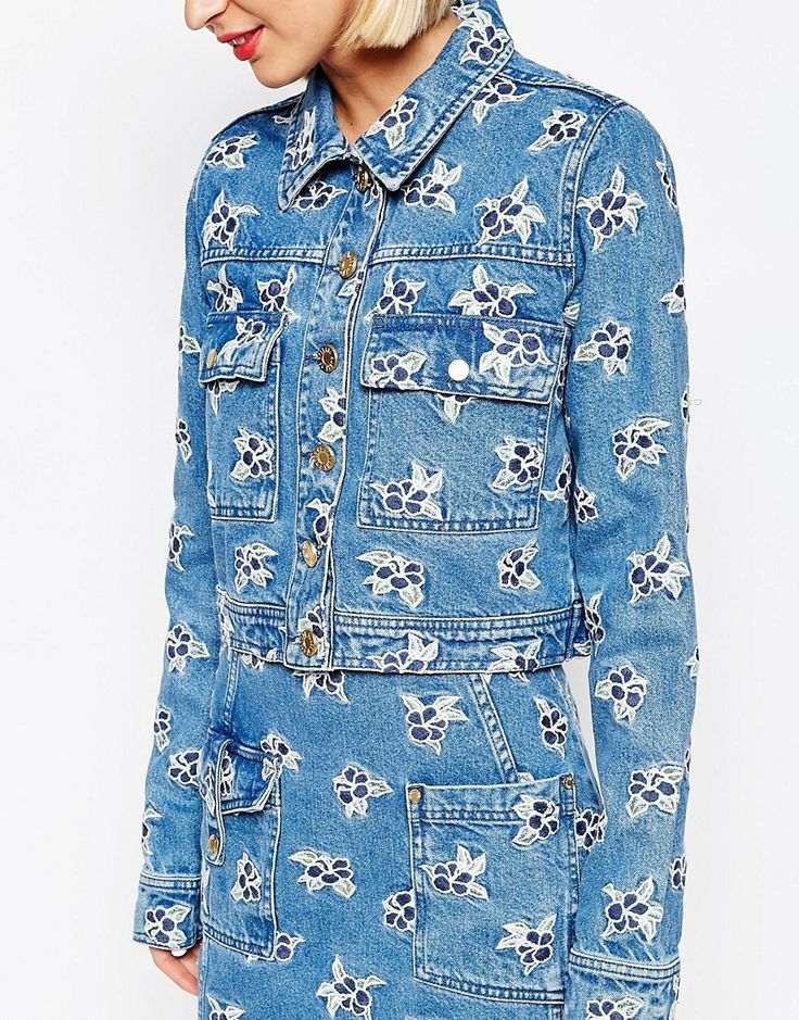 Image 3 of House of Holland Embroidered Denim Jacket