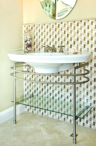 Contemporary Bathroom By AKDO · Contemporary BathroomsShowroomTile Design