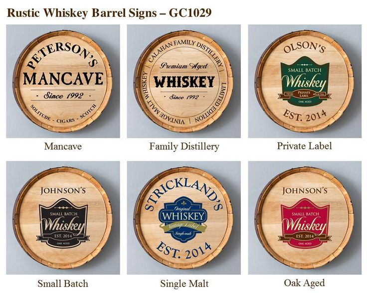 Personalized Whiskey Barrel Signs