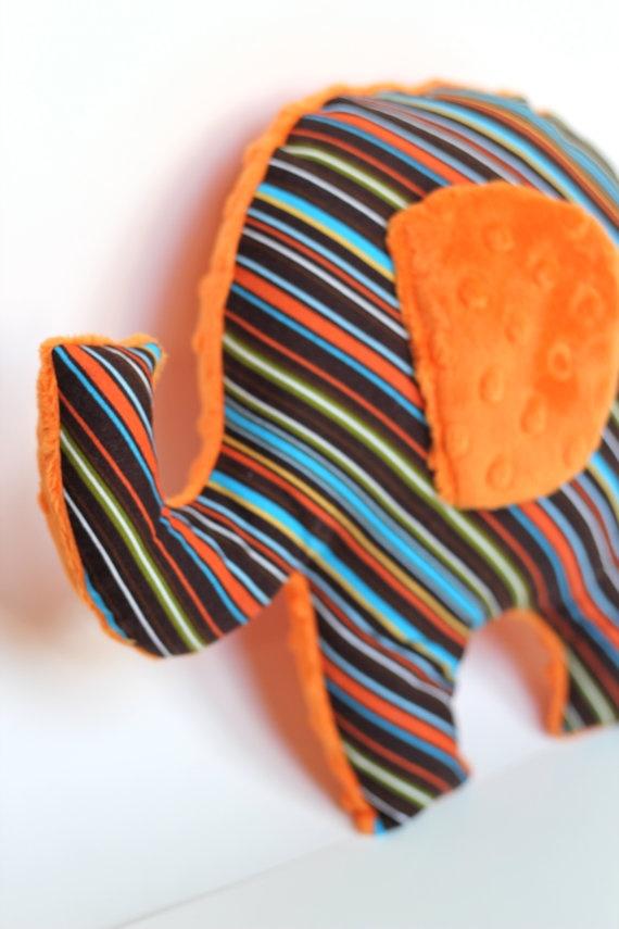 elephant nursery pillow