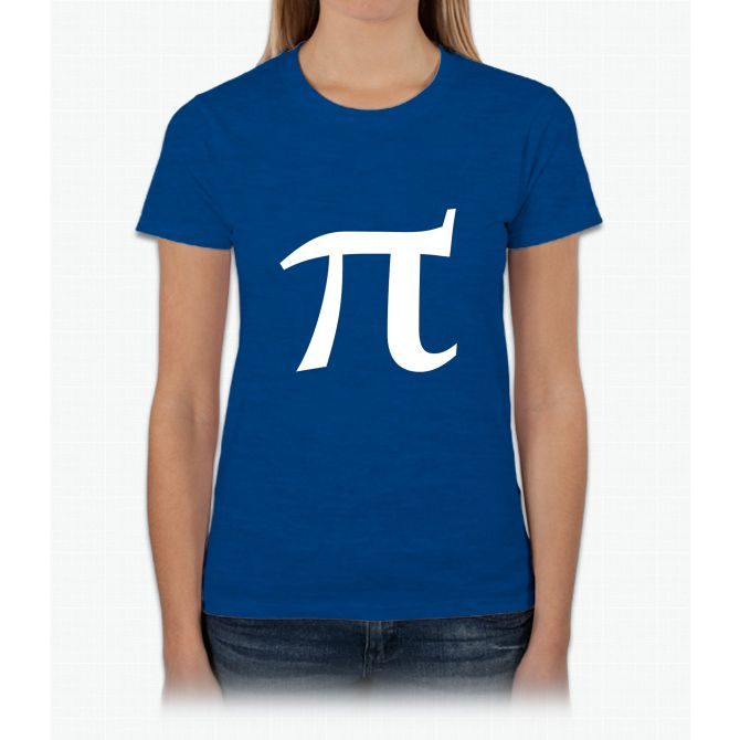 Pi symbol for pi day Womens T-Shirt