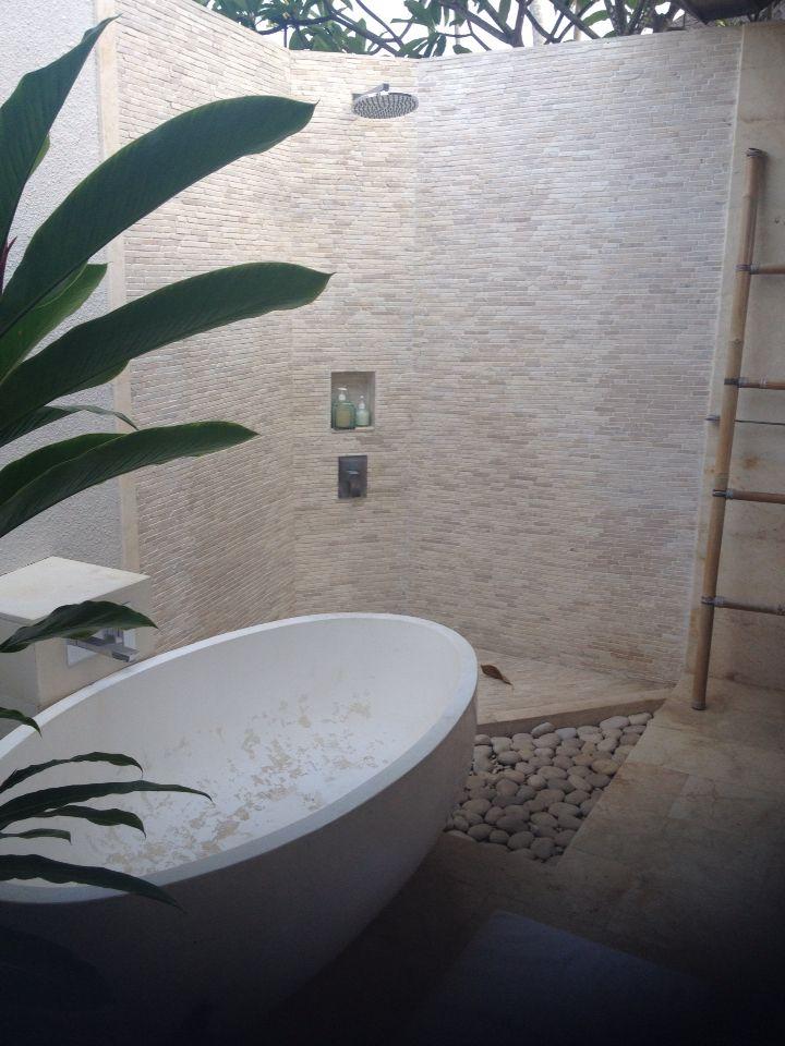 Our beautiful Villa in Bali - Outside Bathroom
