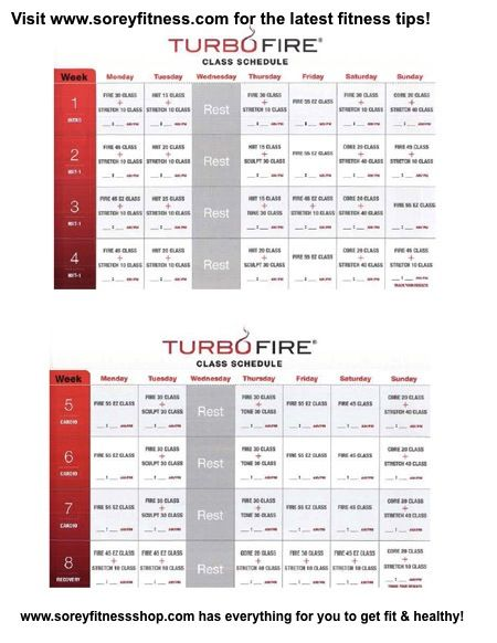 TurboFire Schedule...this is my FAVORITE go to workout..I love almost ...