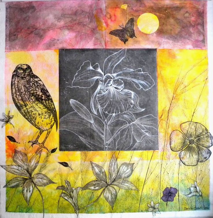 """Saatchi Art Artist Daniela Carletti; Painting, """"The elf and the black orchid"""" #art"""