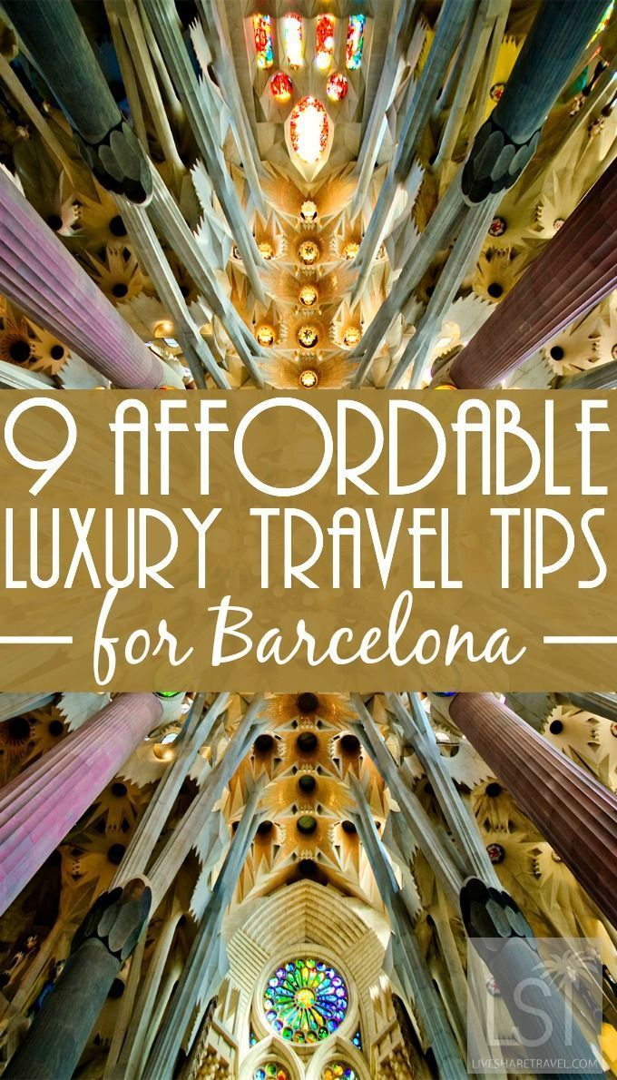 9 affordable luxury travel tips in Barcelona. Barcelona is a hip design city, famed for its culture, architecture, world fashion and the arts. One of the most popular cities in Europe, here's a collection of nine Barcelona travel tips to help you make the most of a visit to this vibrant corner of Spain. With affordable flights and cost-effective ways to travel around when you get there, Barcelona is the ideal place if you are looking for a luxury experience without breaking the bank.