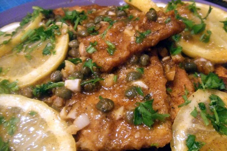 <p>Tofu cooked in a delicious sauce of Vegan butter, white wine, parsley, garlic, lemons and capers.</p>
