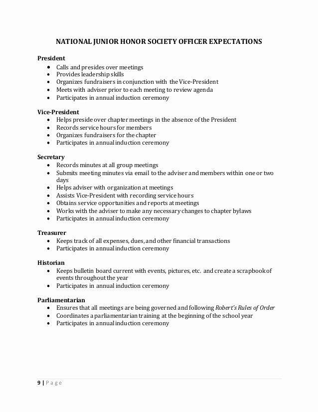National Honor Society Description Resume Awesome Handbook In 2020 Honor Society National Honor Society National Junior Honor Society