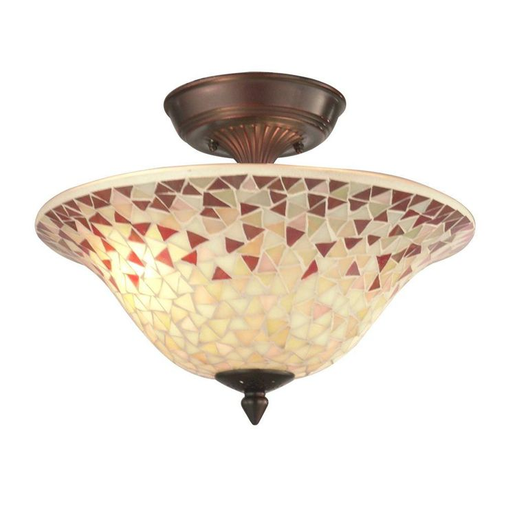 This lovely Mosaic Antique Copper ceiling light from Dale Tiffany is  charming and colorful  This230 best Lighting   Fans images on Pinterest   Home depot  . Home Depot Ceiling Lighting. Home Design Ideas