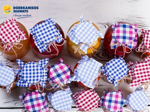 """Τα παραδοσιακά νησιώτικα γλυκά ξυπνούν τις καλοκαιρινές αναμνήσεις μας όλο το χειμώνα…  Με μια κουταλιά γλυκό ντοματάκι, ξαναπαίρνουμε μια γεύση απ' την Κω.   Traditional desserts awake our summer memories during the winter…  A spoon of the unique """"small tomato dessert"""" leaves a taste of Kos in our mouths."""