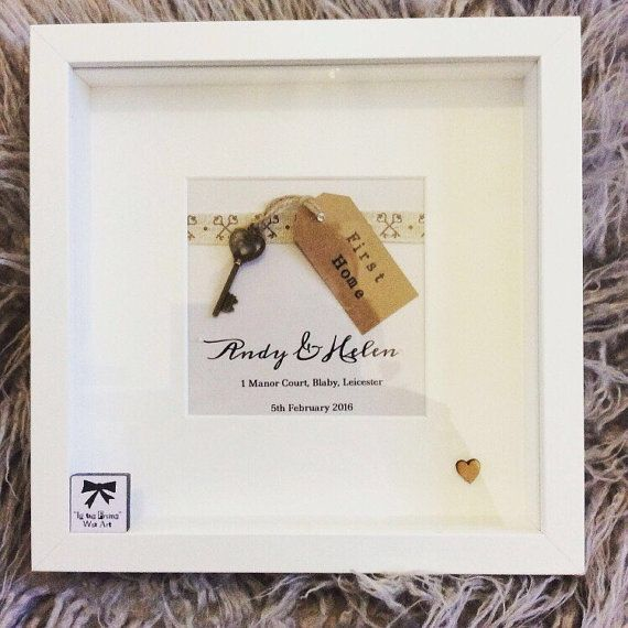 New Home Frame first home great keepsake gift by Intheframewallart