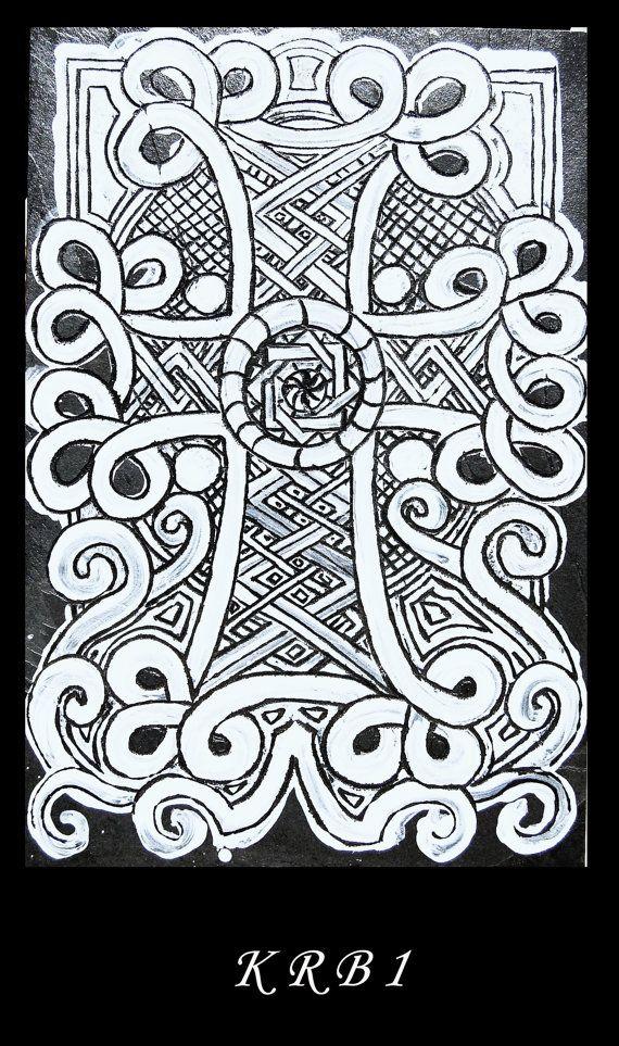 Gravure croix arménienne Pleine Lune