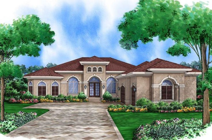 1000 images about courtyard entry house plans on for Mediterranean house plans with photos