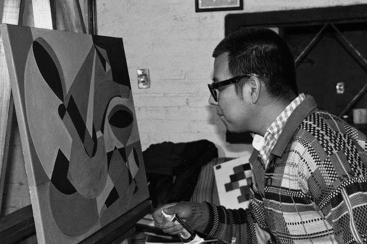 Bernardo Santiago Angeles, in Santiago's Studio, Tepatepec of Francisco I. Madero Hidalgo, 2014 (© Santiago).