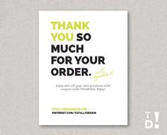Image result for thank you for your order card