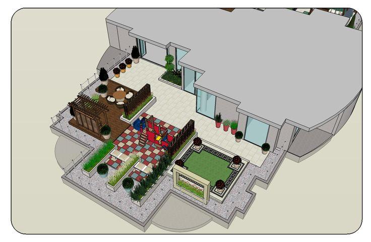 Roof Terrace Garden Landscape Design / General view