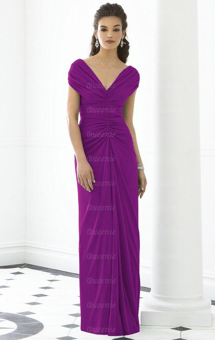 Einfaches langes purpurrotes Chiffon Ballkleid Abendkleid BNNAK0055-Queeniekleid.de