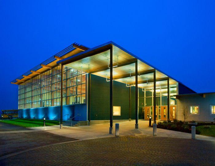 Richmond Christian School, main entrance, Richmond, BC, Canada