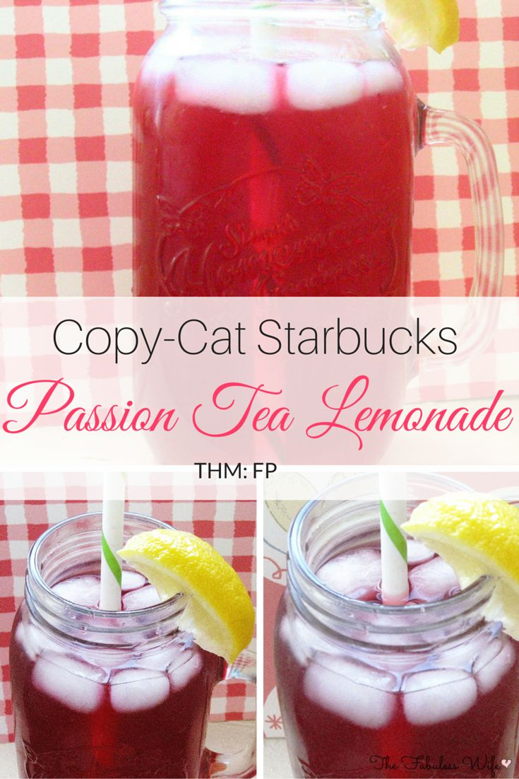 My Passion Tea Lemonade tastes identical to the Starbuck's favorite! It's low-carb, sugar-free and THM FP!