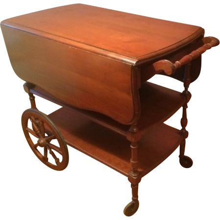 Vintage Pennsylvania House Cherry Wood Double Drop Leaf Handled Tea Cart |  00 Wish List In 2018 | House, Tea Cart, Tea